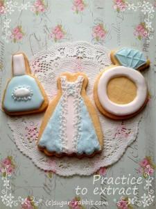 【アイシングクッキー:サンプル画像】絞りメインのレッスン♪